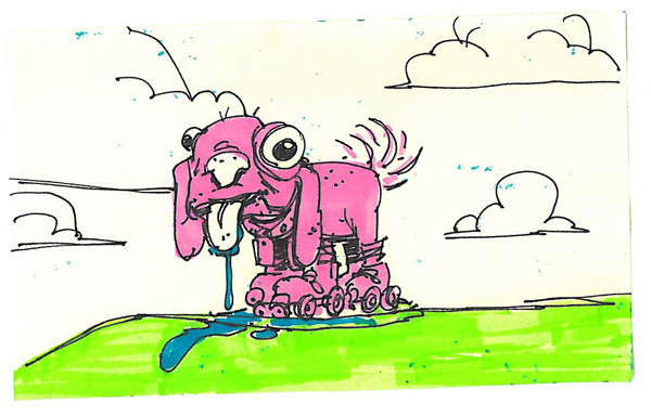 Post-It A Day – Pink Doggy