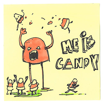 Post-It A Day – Me Is Candy