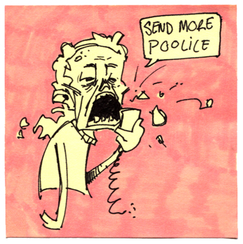 Post-It A Day – Send More Police