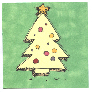 Post-It A Day – Cardboard Christmas Tree