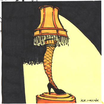Gallery For > Leg Lamp Drawing
