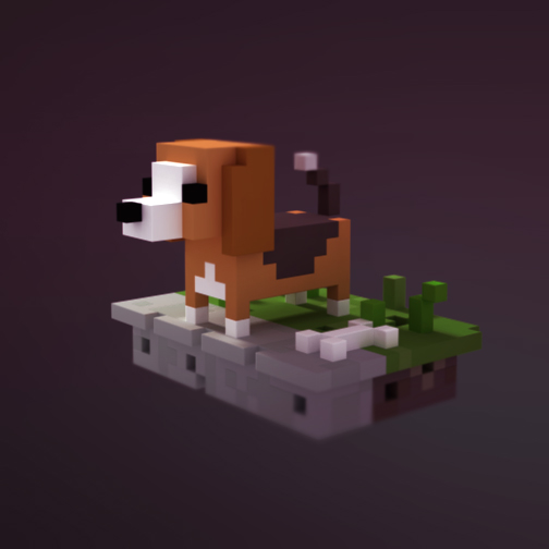 Rocky the Beagel voxel sketch